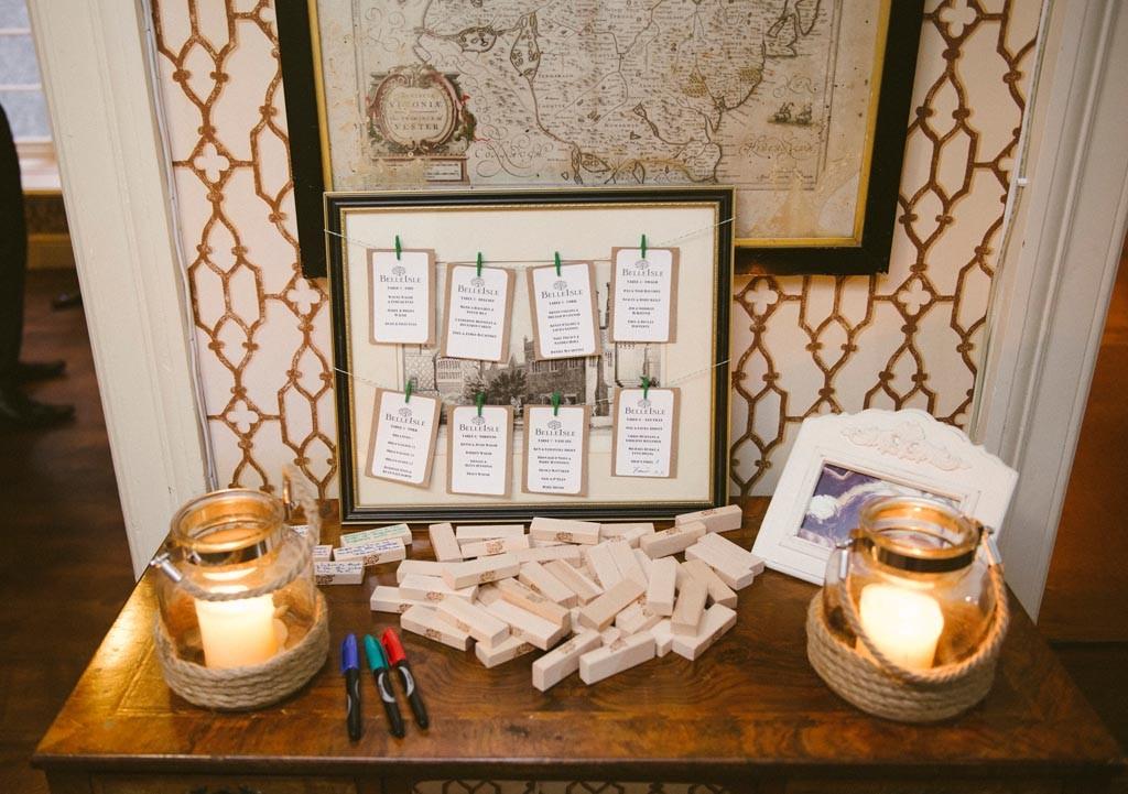 E&W Wedding table plan