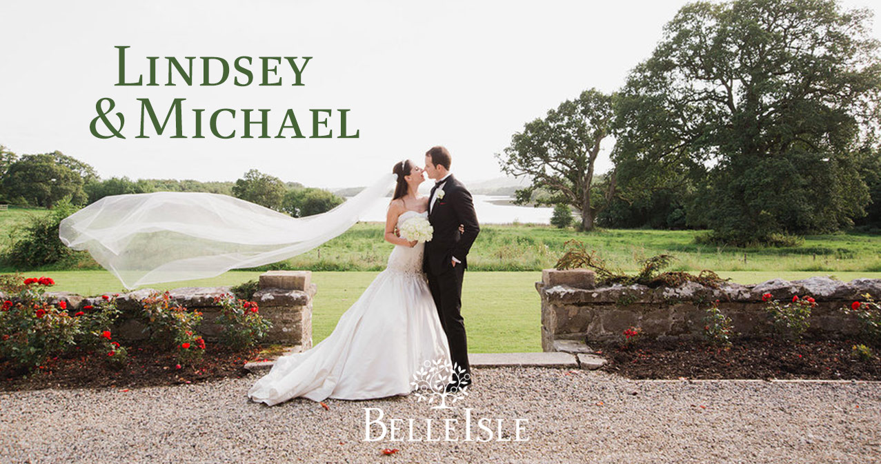Lindsey and Michael at Belle Isle Castle