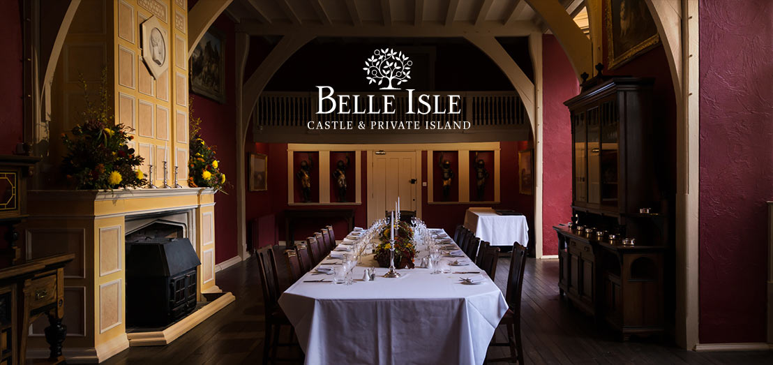 Belle Isle Castle's Grand Dining Hall