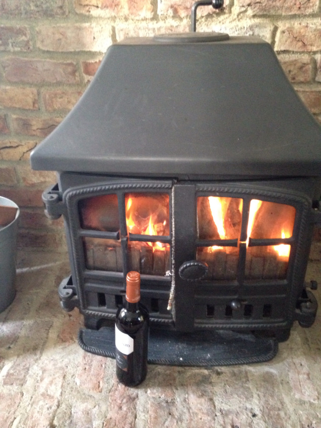 Belfast Travels Blog their stay at Belle Isle - Wood Burning Stoves in every Cottage