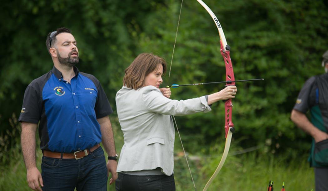 Archery lesson at Belle Isle Estate