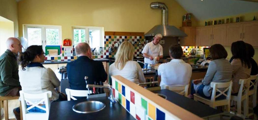 Afternoon cookery demonstration at Belle Isle Cookery School