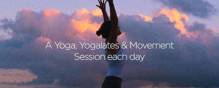 Yoga sessions each day