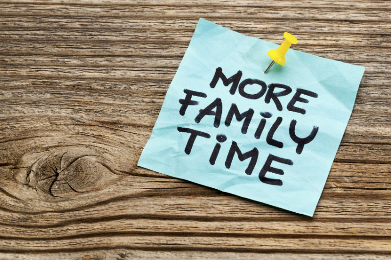 Reconnect with more Family Time